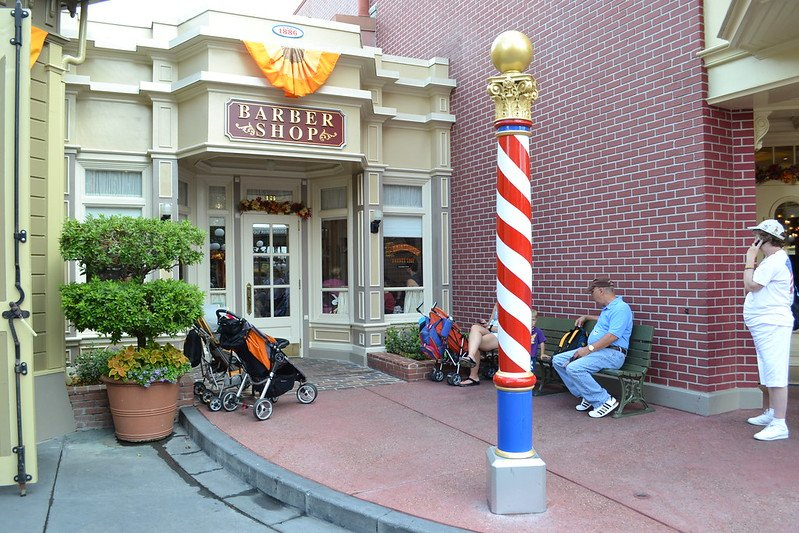 image - main st barber magic kingdom disney world by dk peterson