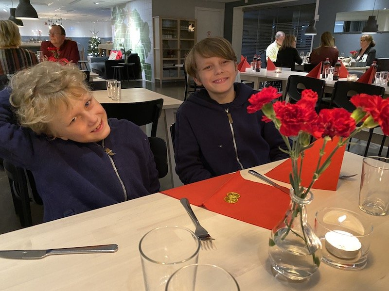 image - ned and jack at ikea hotel restaurant
