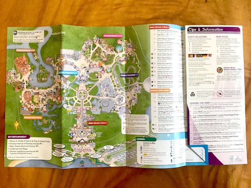 image - walt disney world map 800