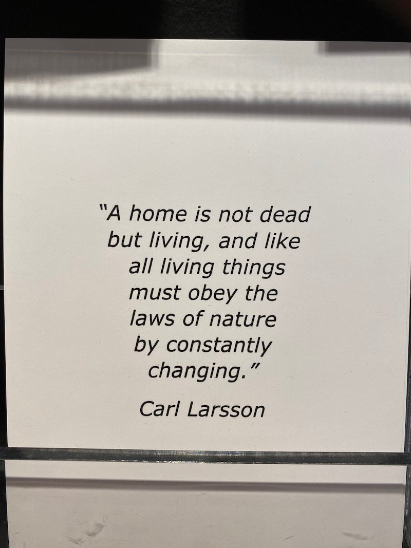 image - ikea museum shop carl larsson quote