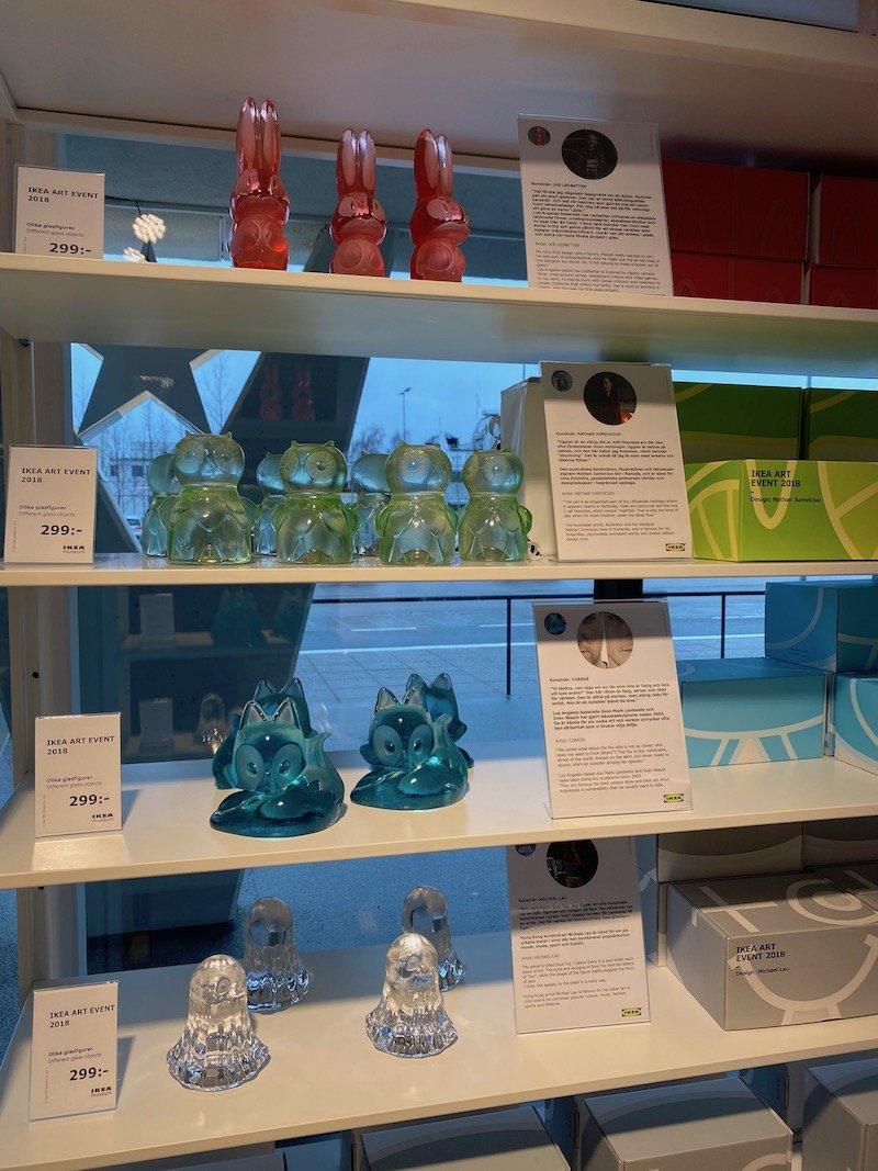 image - ikea museum shop glass ornaments