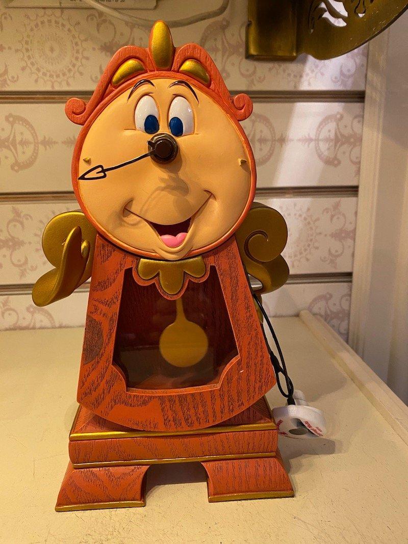Disney Beauty and the Beast Cogsworth Clock