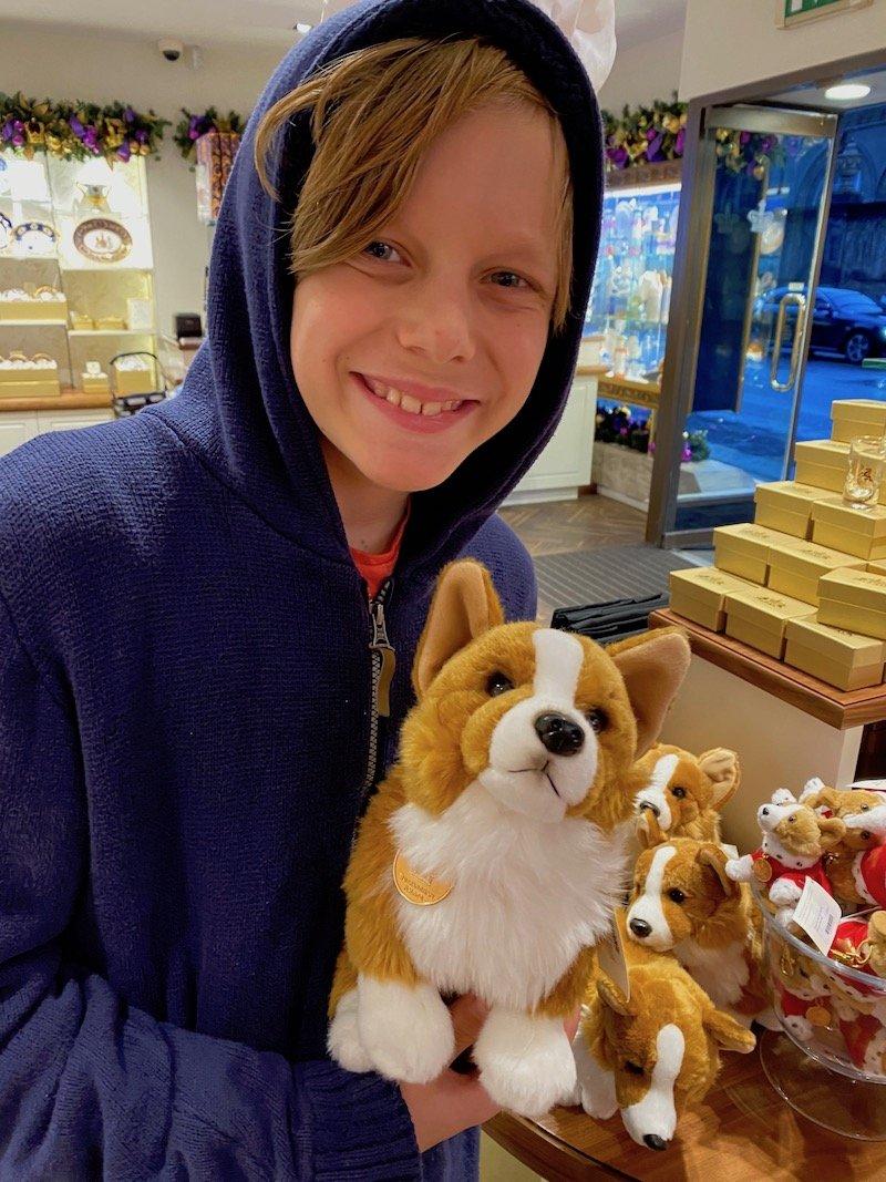 image - buckingham palace dog toy corgi with ned