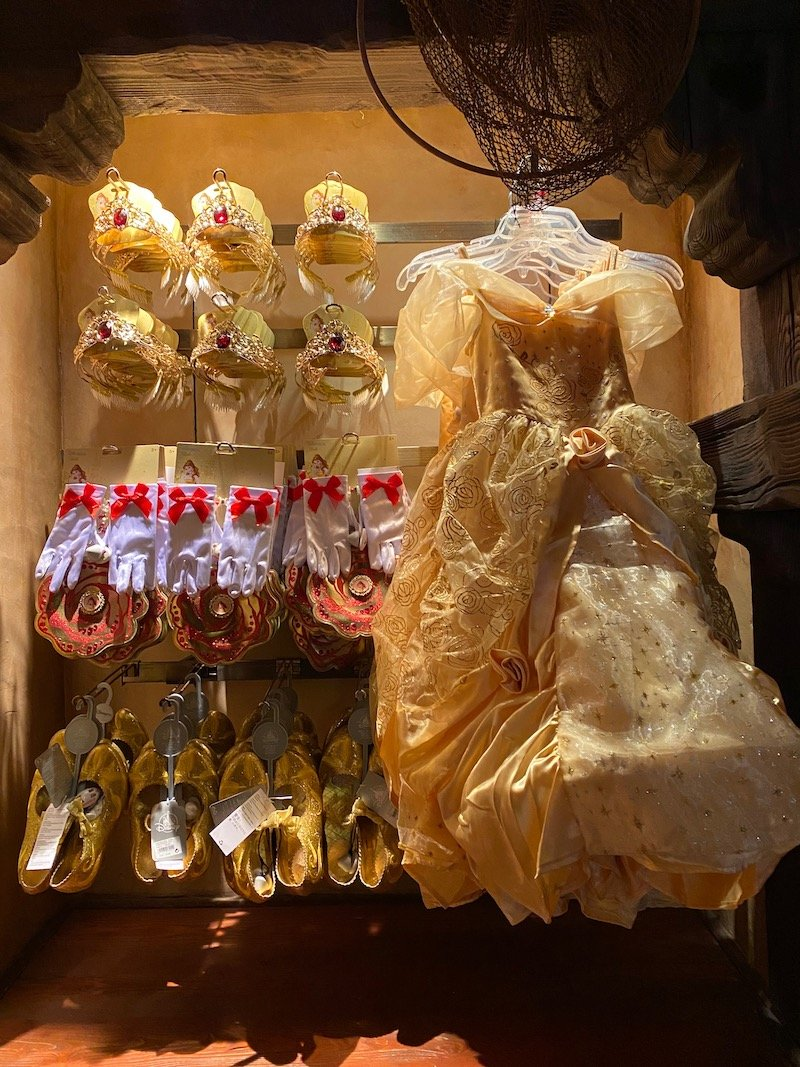 image - disney princess belle dress up costume and accessories