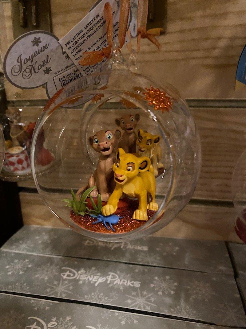 image - disneyland paris christmas lion king ornaments