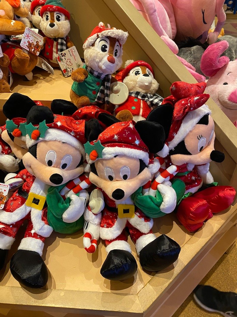 image - disneyland paris christmas mickey mouse dolls