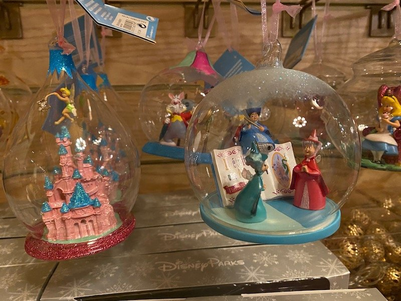image - disneyland paris christmas ornaments duo