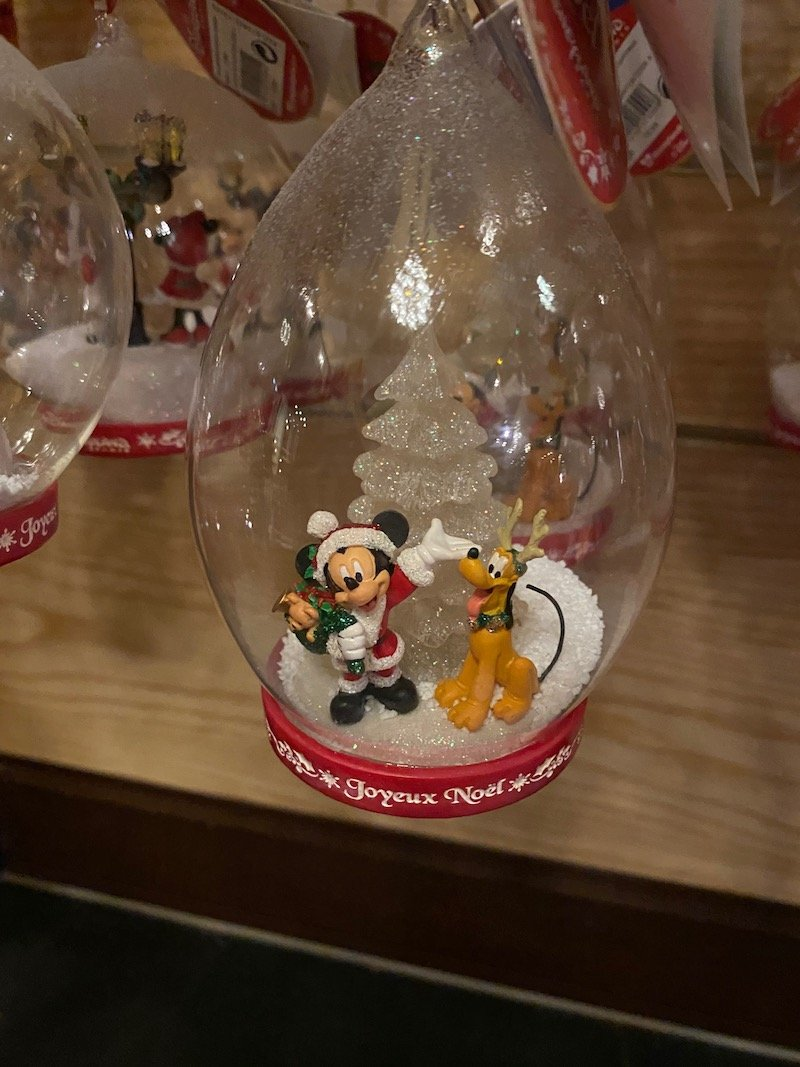 image - disneyland paris christmas ornaments mickey and pluto
