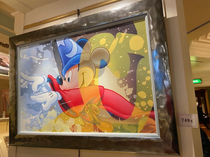 image - disneyland paris mickey fantasia art cell