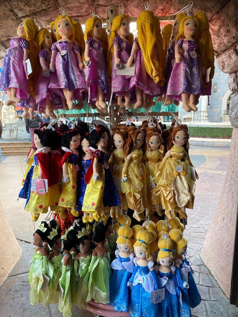image - disneyland paris princess dolls plush