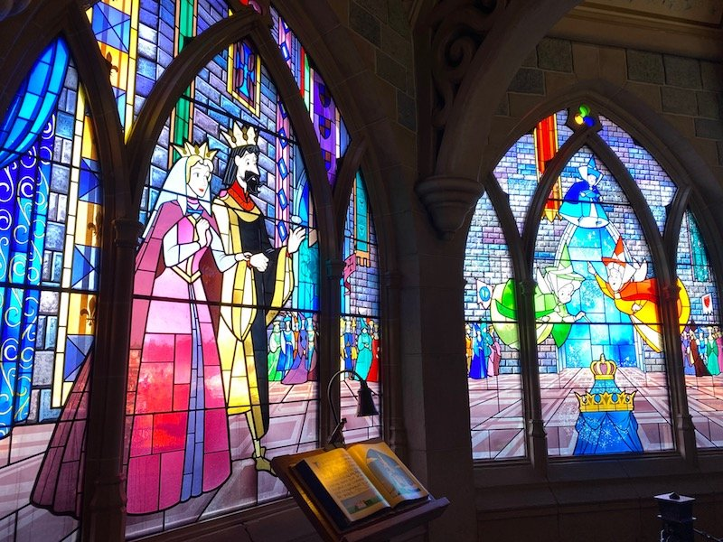 image - disneyland paris sleeping beauty castle stained glass windows