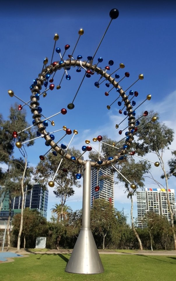 image - docklands harbour playground sculpture by lui nguyen gm