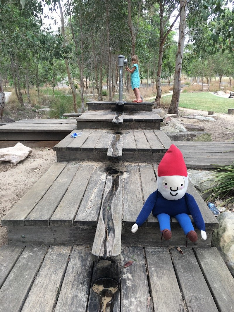 image - lizard log playground sydney water run