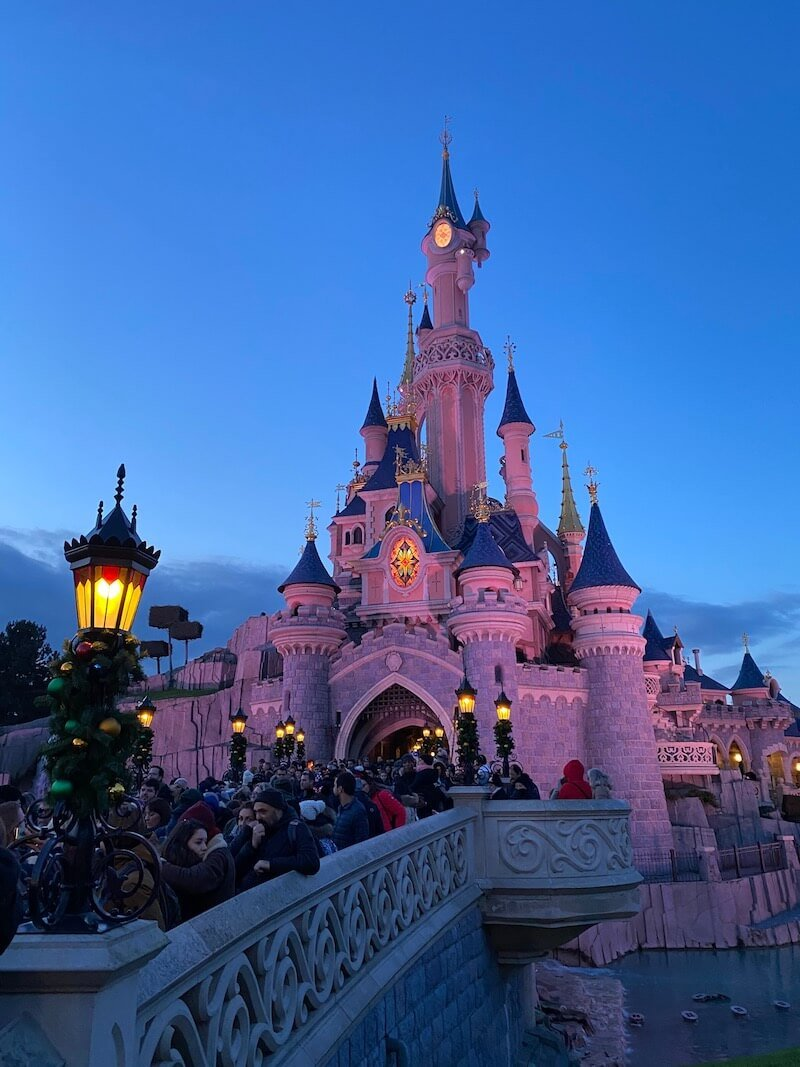 image- disneyland paris castle at night