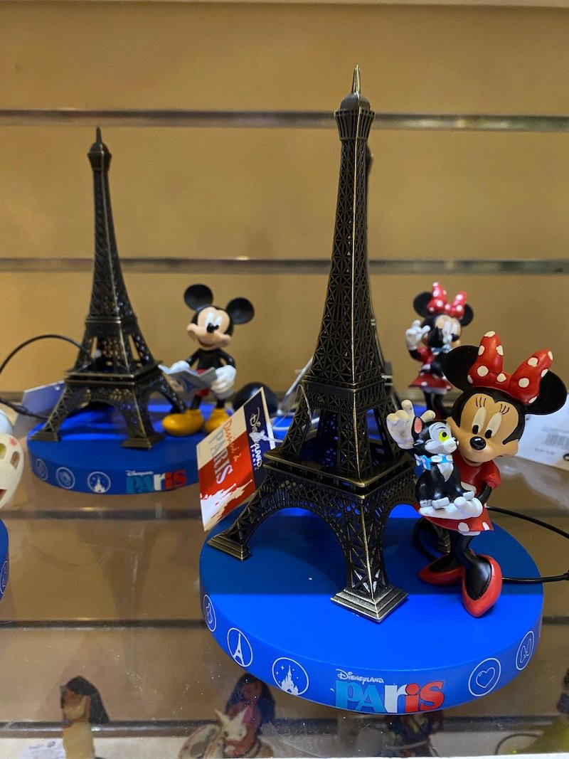 image - disneyland paris figurine eiffel tower with minnie and mickey