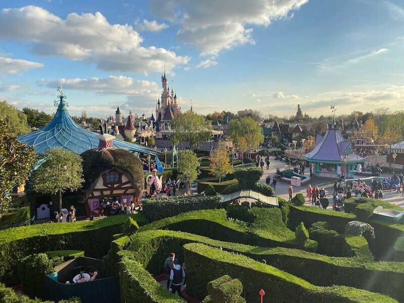 image -disneyland paris view from maze
