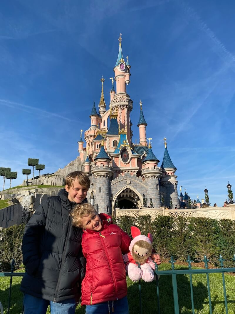 image - ned and jack at disneyland paris