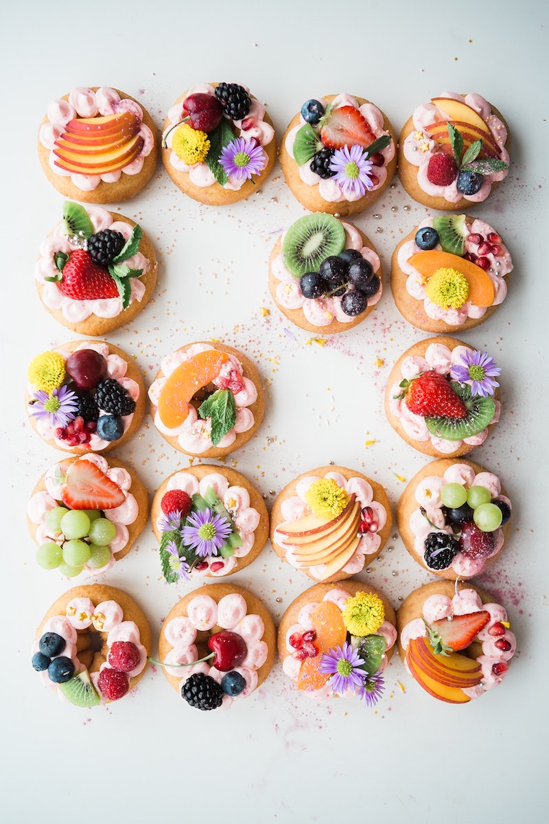 image - donuts with edible flowers by brooke-lark