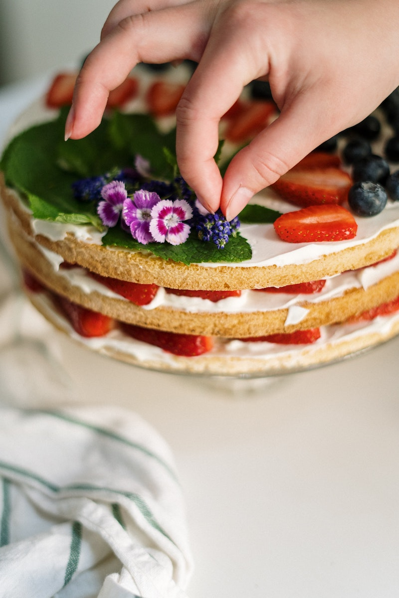 image - edible flowers on cake by pexels-cottonbro