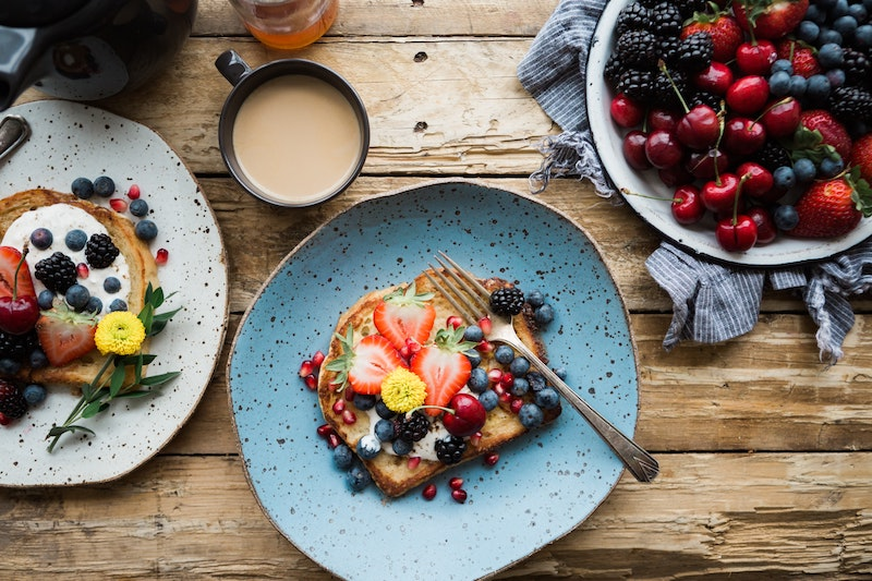 image - edible flowers on french toast by brooke-lark
