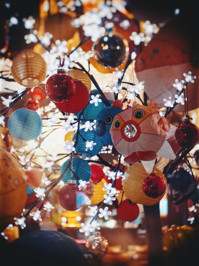 image - paper lanterns for trampoline sleepover night by daniel-von-appen