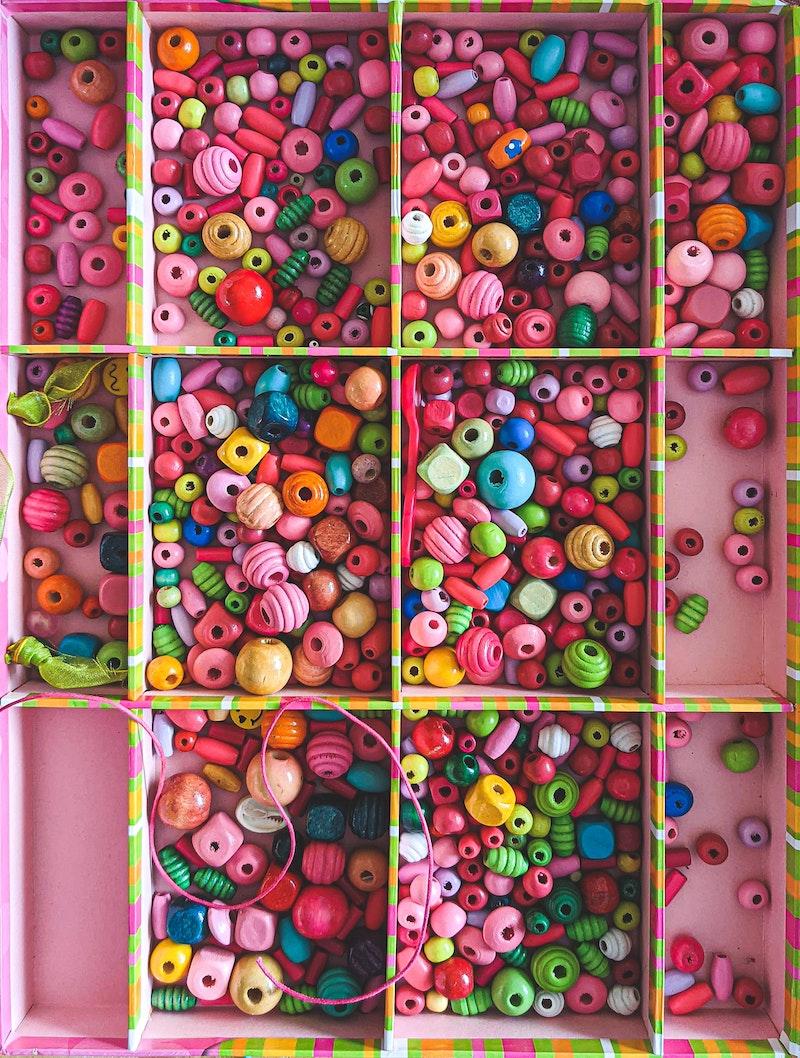 image - pink craft beading box by sigmund