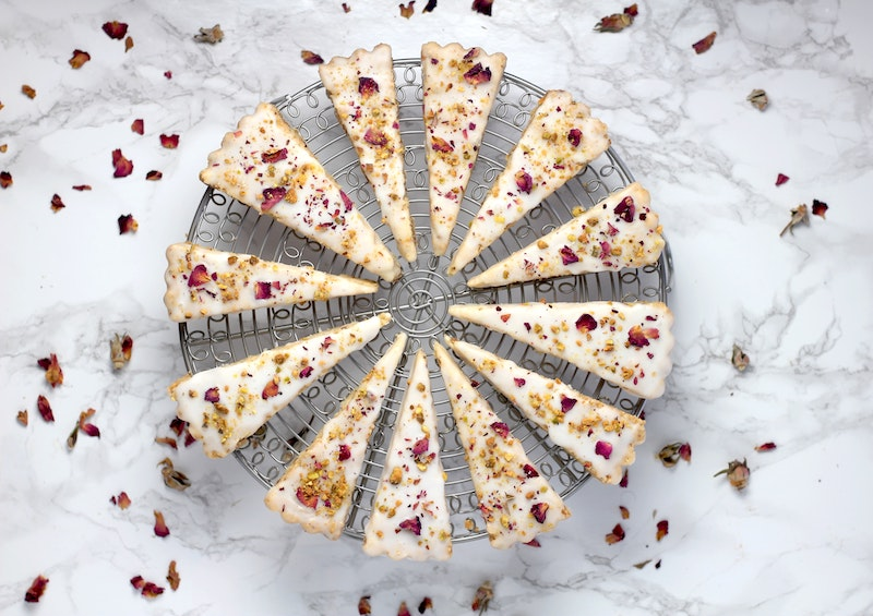 image - dried edible flowers on cakes by sheri-silver