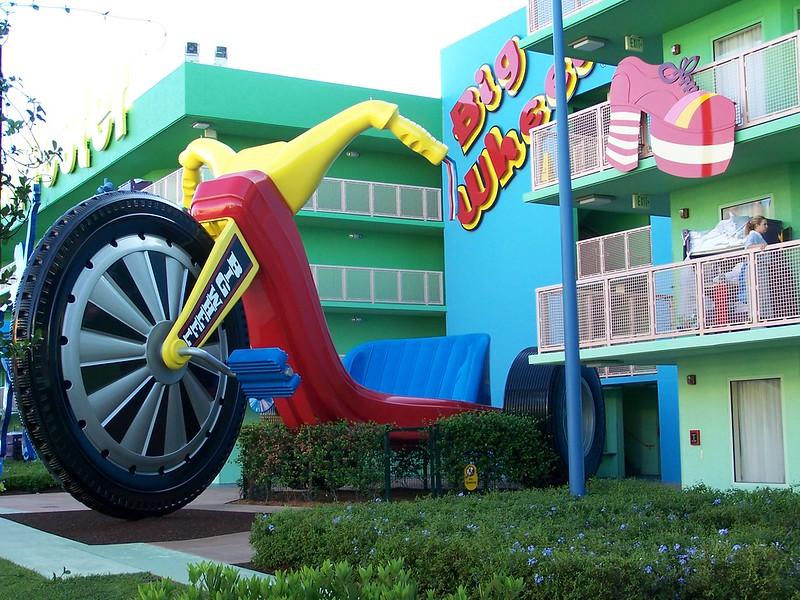 image - big wheel junior trikes at pop century by joel flickr