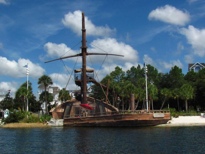image - pirate ship disneys yacht and beach club resort by loren javier flickr