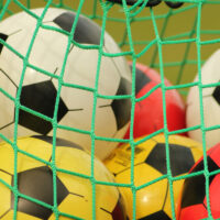 image - soccer ball with net trampoline games with balls